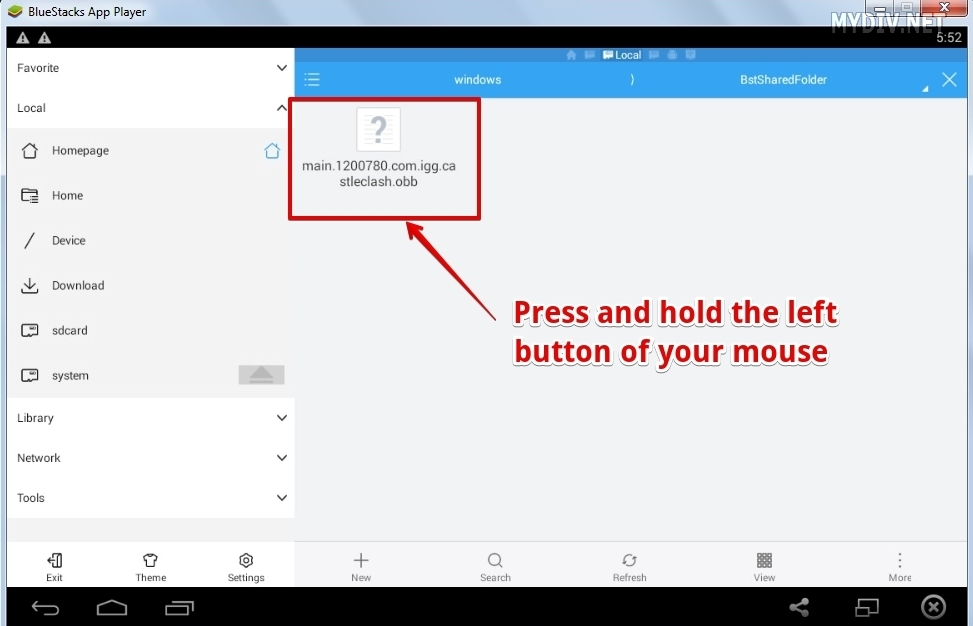how to transfer downloaded files from bluestacks to pc